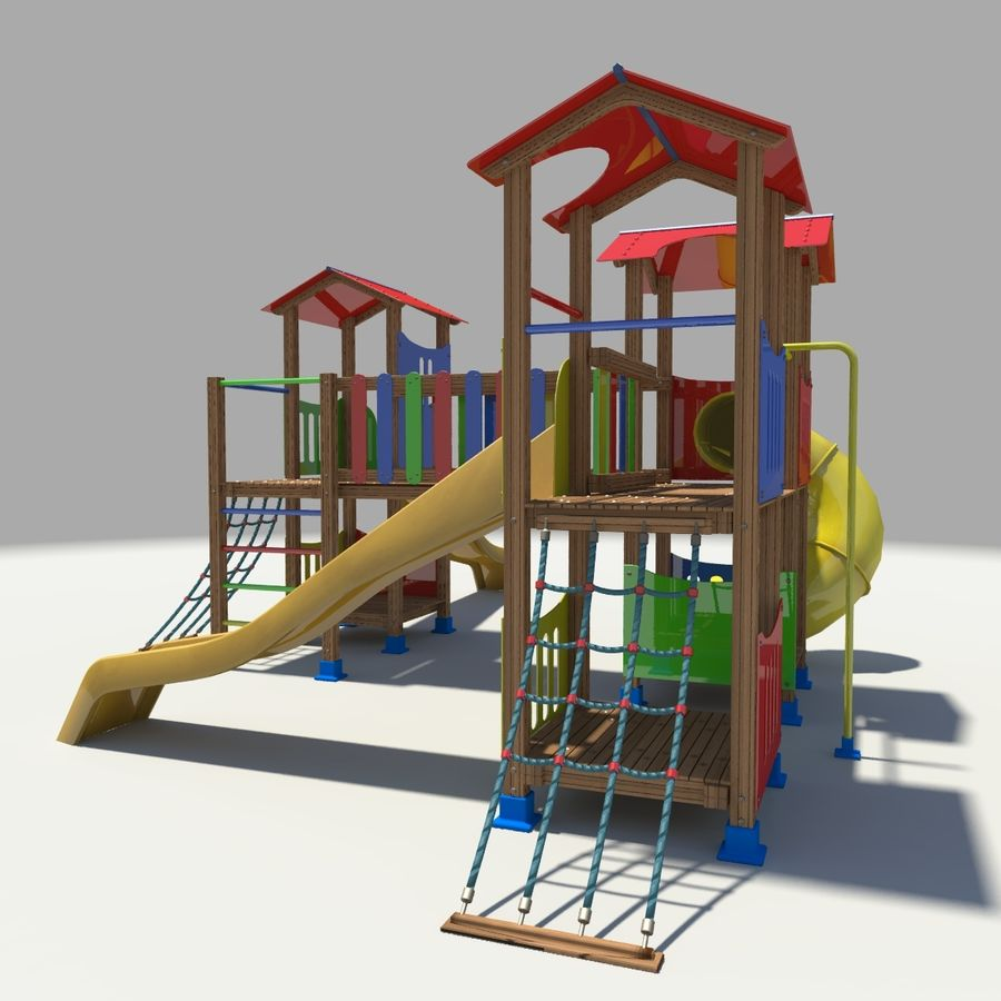 Playground royalty-free 3d model - Preview no. 6
