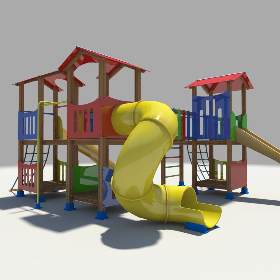 Playground royalty-free 3d model - Preview no. 4