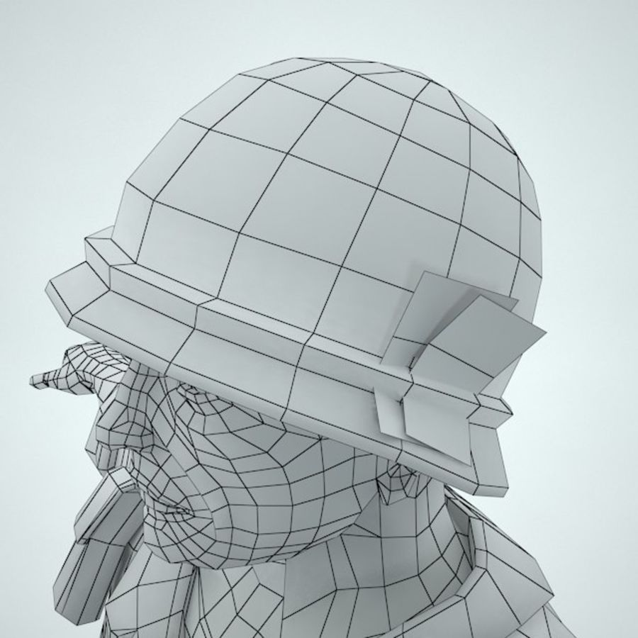 Marine soldier Vietnam royalty-free 3d model - Preview no. 13