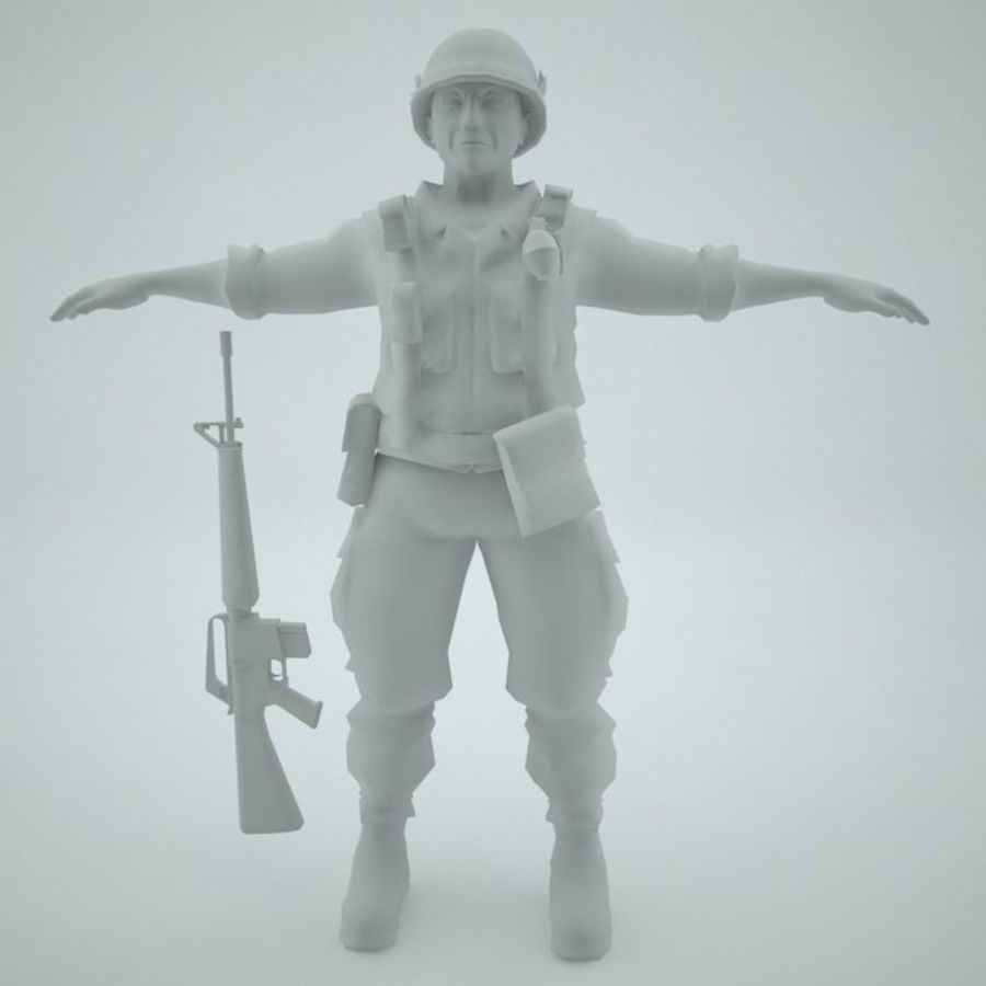 Marine soldier Vietnam royalty-free 3d model - Preview no. 8