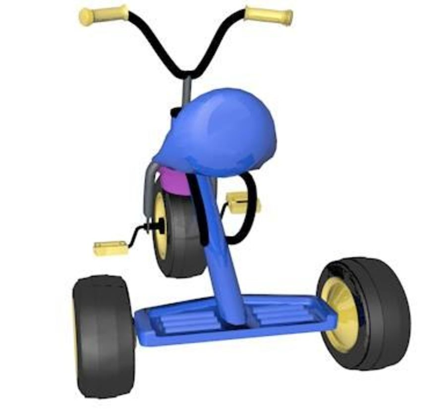 Toy Tricycle Bike royalty-free 3d model - Preview no. 5