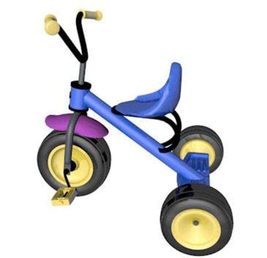Toy Tricycle Bike royalty-free 3d model - Preview no. 4