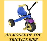 Toy Tricycle Bike 3d model