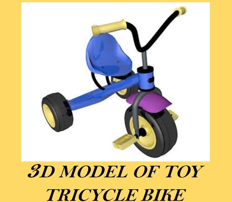 Toy Tricycle Bike royalty-free 3d model - Preview no. 1