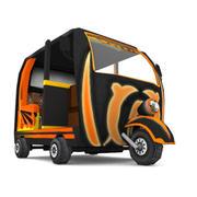 Rickshaw_LowPoly 3d model