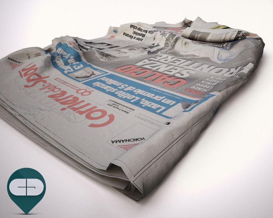 报纸Corriere Sport 20 royalty-free 3d model - Preview no. 5