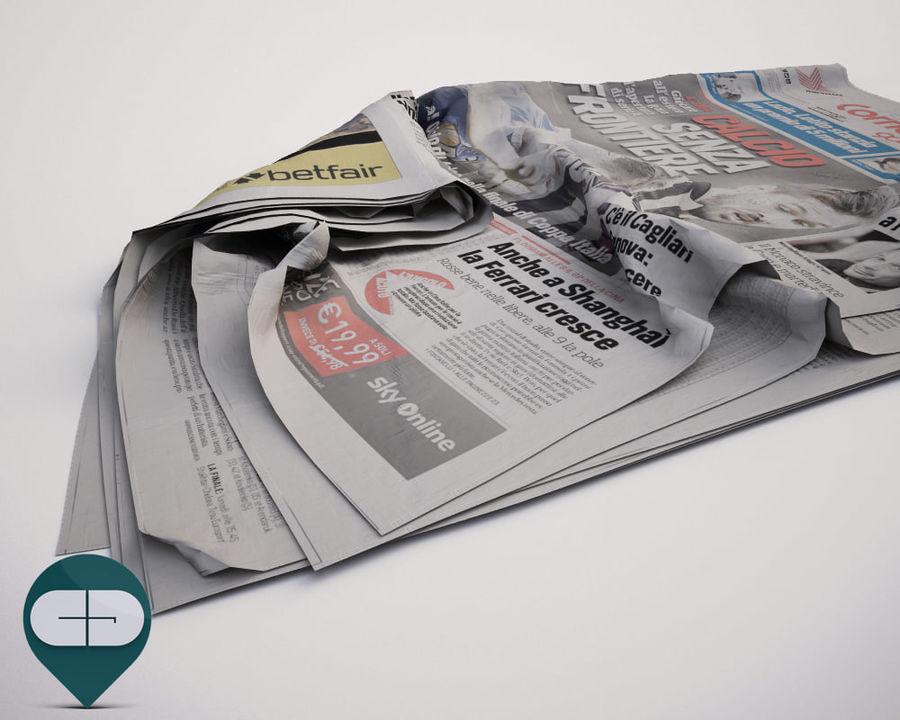 报纸Corriere Sport 20 royalty-free 3d model - Preview no. 3