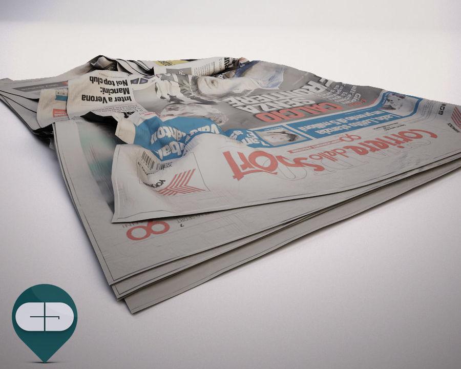 报纸Corriere Sport 20 royalty-free 3d model - Preview no. 4