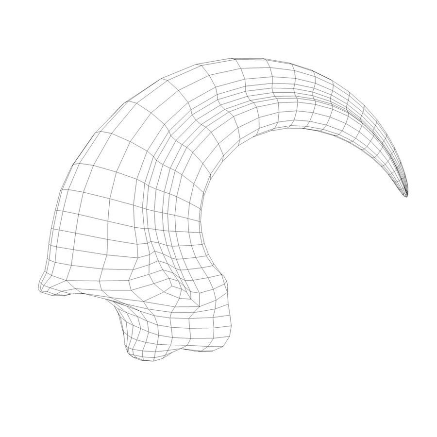 velociraptor claw royalty-free 3d model - Preview no. 5