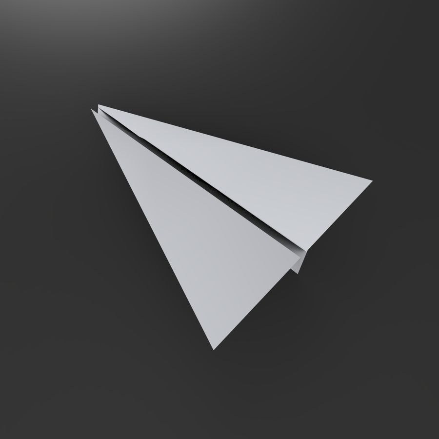 Avion en papier royalty-free 3d model - Preview no. 4