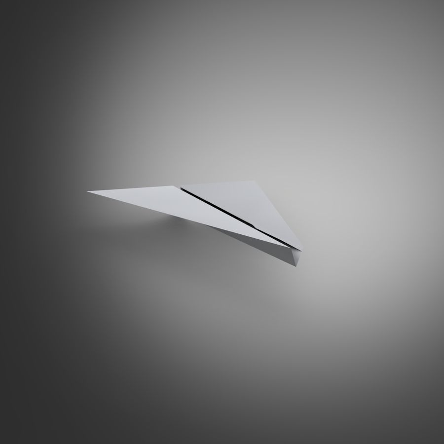 Avion en papier royalty-free 3d model - Preview no. 3