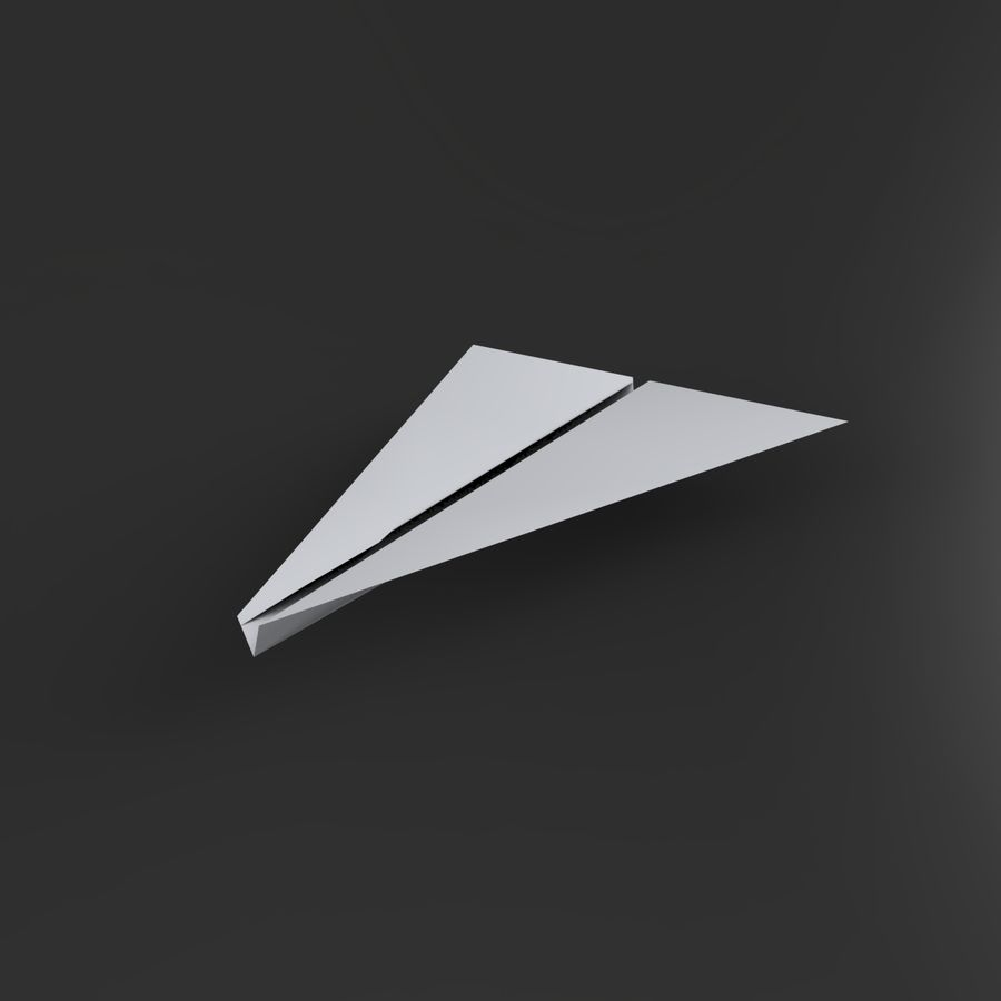Avion en papier royalty-free 3d model - Preview no. 2