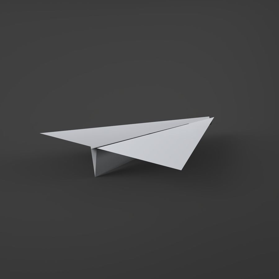 Avion en papier royalty-free 3d model - Preview no. 6