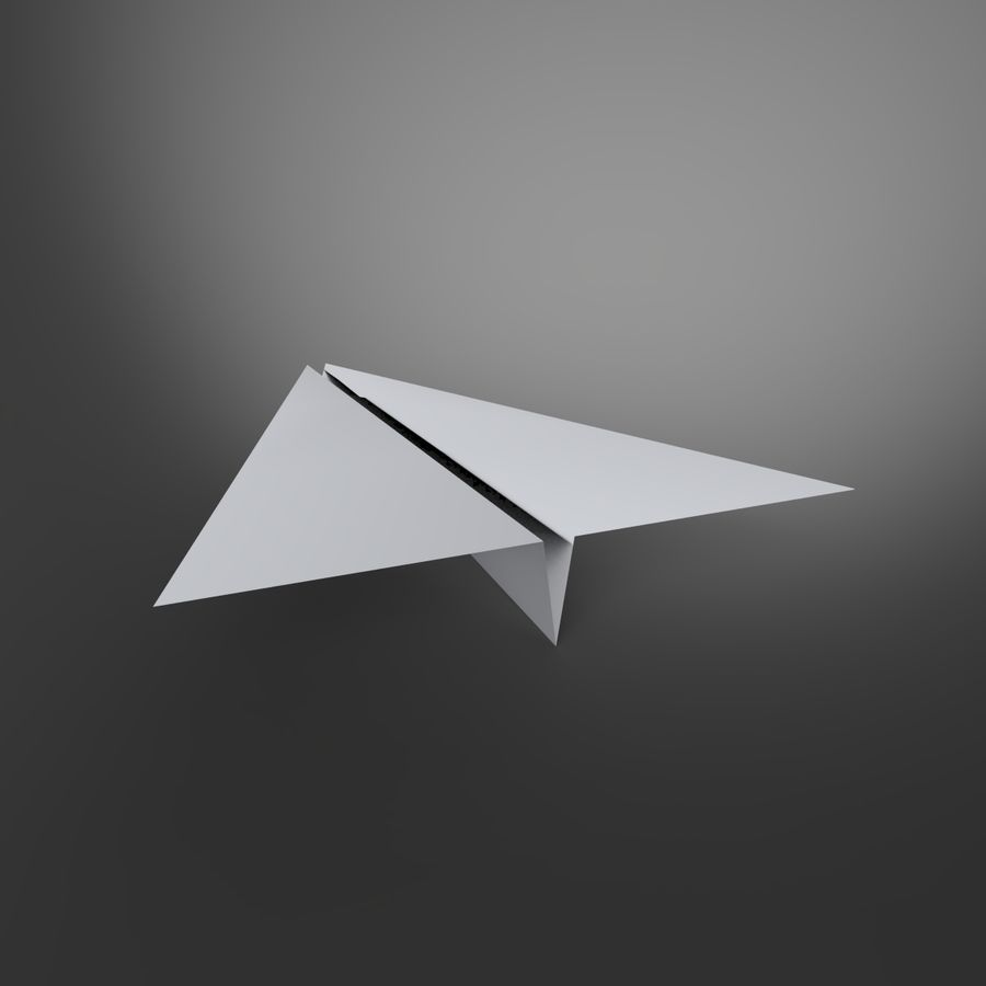 Avion en papier royalty-free 3d model - Preview no. 5
