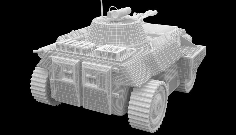 Lätta Armored Vehicle royalty-free 3d model - Preview no. 14