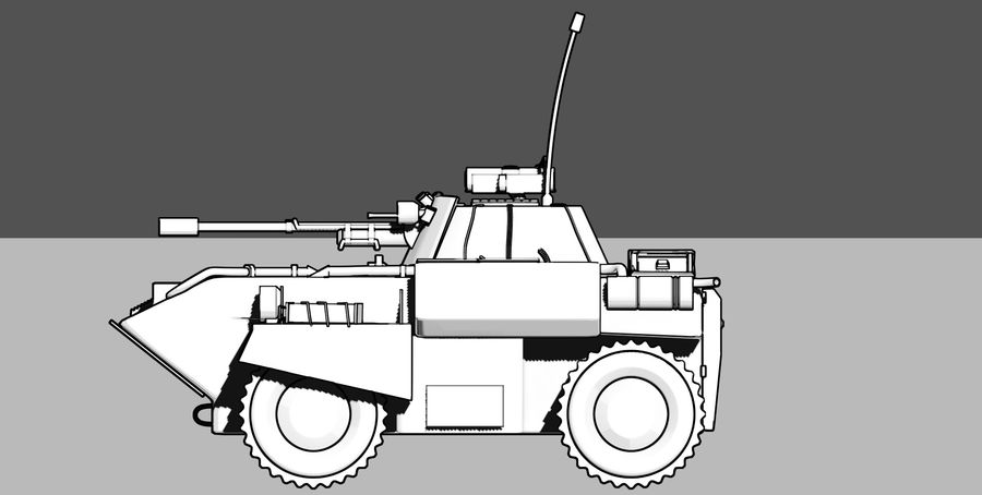 Lätta Armored Vehicle royalty-free 3d model - Preview no. 8