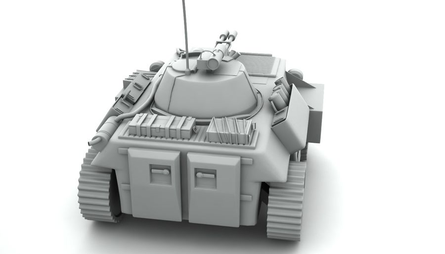 Lätta Armored Vehicle royalty-free 3d model - Preview no. 3