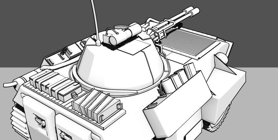 Lätta Armored Vehicle royalty-free 3d model - Preview no. 10