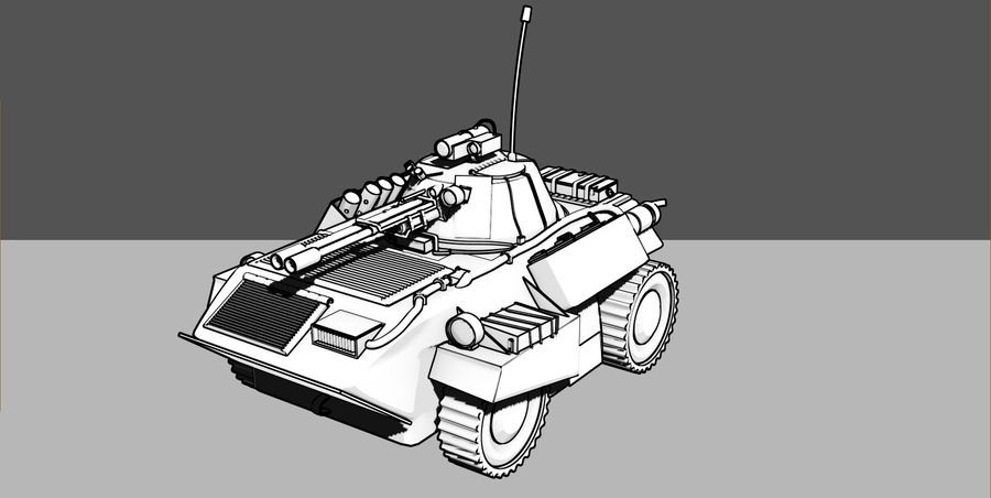Lätta Armored Vehicle royalty-free 3d model - Preview no. 5