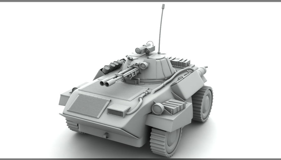 Lätta Armored Vehicle royalty-free 3d model - Preview no. 1