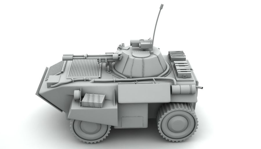 Lätta Armored Vehicle royalty-free 3d model - Preview no. 2