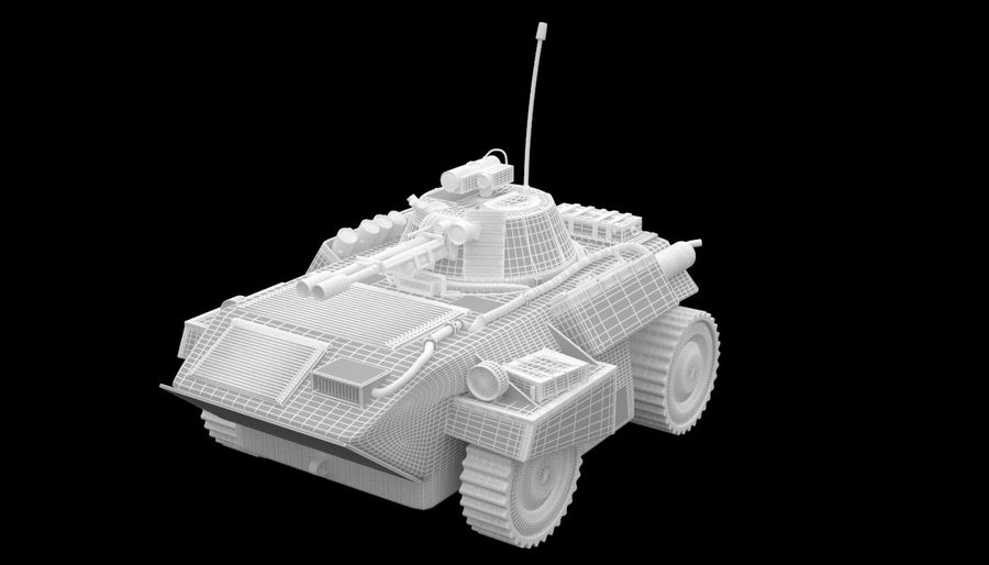 Lätta Armored Vehicle royalty-free 3d model - Preview no. 12