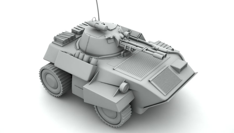 Lätta Armored Vehicle royalty-free 3d model - Preview no. 4