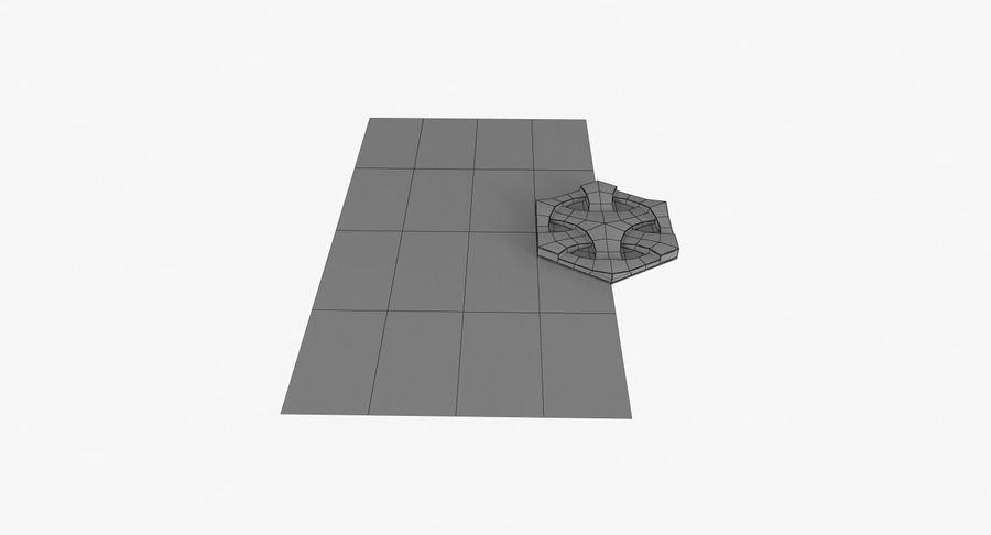 3D墙板4 royalty-free 3d model - Preview no. 12