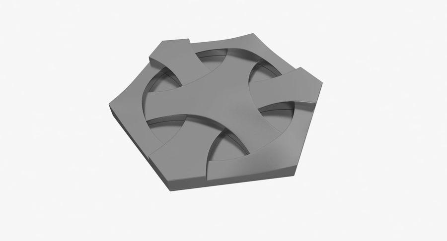 3D墙板4 royalty-free 3d model - Preview no. 4