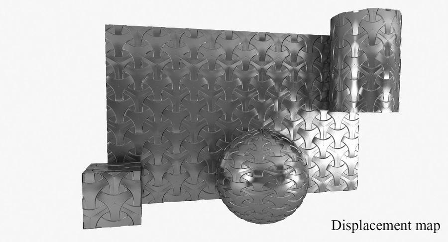 3D墙板4 royalty-free 3d model - Preview no. 9