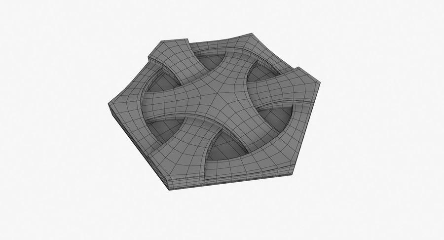 3D墙板4 royalty-free 3d model - Preview no. 7