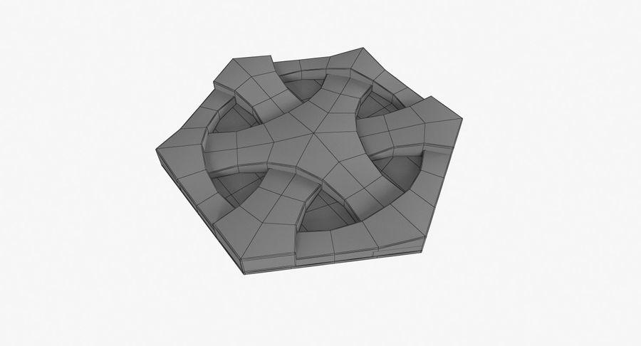 3D墙板4 royalty-free 3d model - Preview no. 6