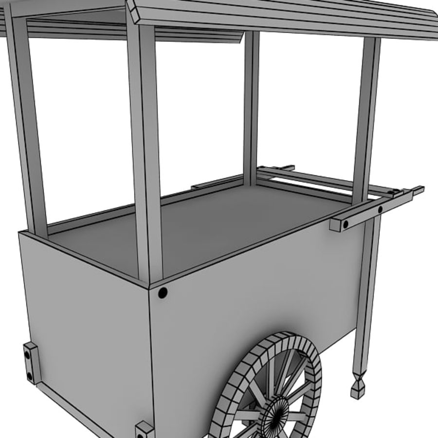 Old Food Cart royalty-free 3d model - Preview no. 15