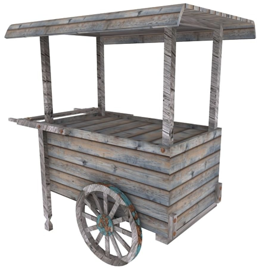 Old Food Cart royalty-free 3d model - Preview no. 13