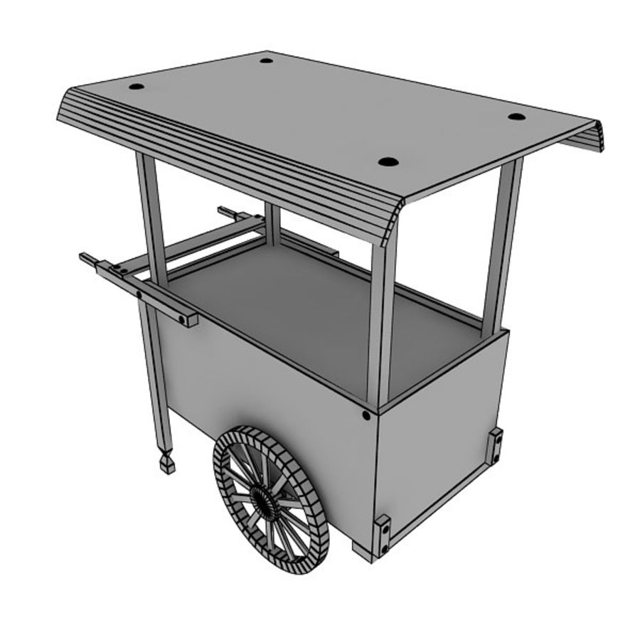 Old Food Cart royalty-free 3d model - Preview no. 14