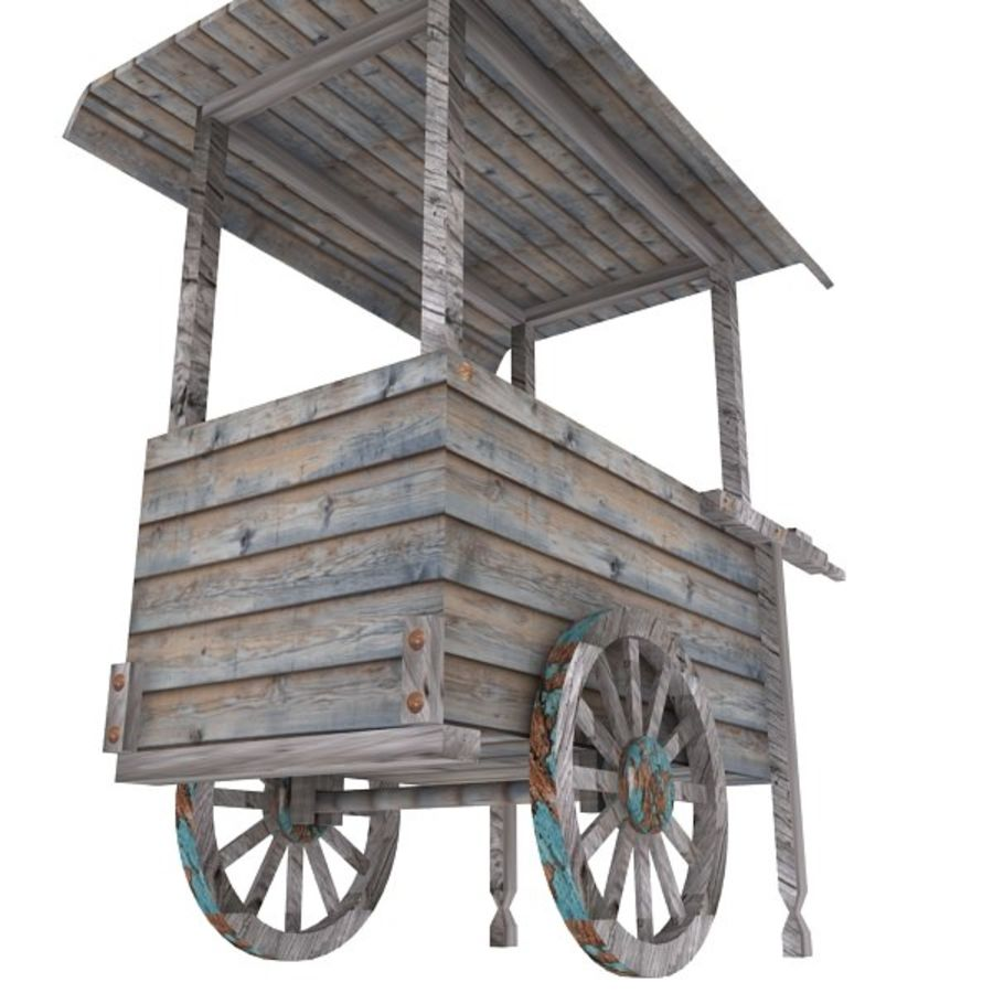 Old Food Cart royalty-free 3d model - Preview no. 9
