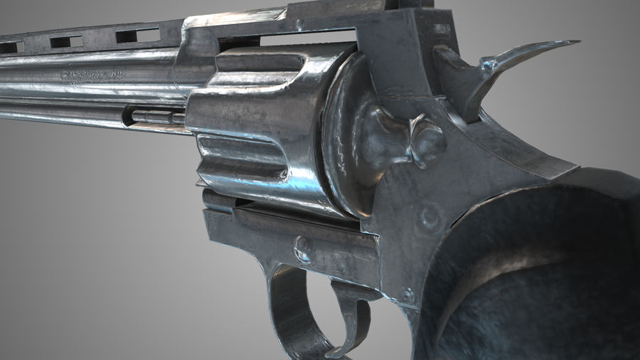 Colt pyton royalty-free 3d model - Preview no. 8