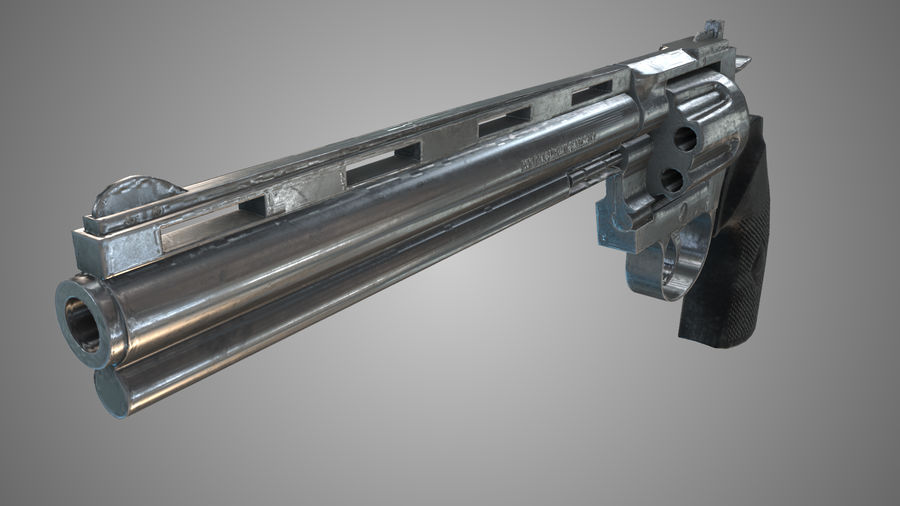 Colt pyton royalty-free 3d model - Preview no. 3