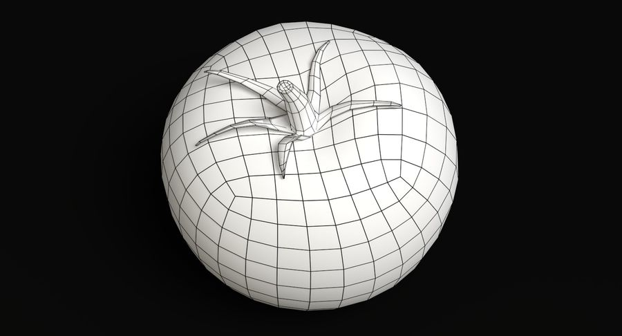 Tomato royalty-free 3d model - Preview no. 7