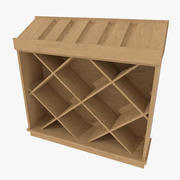Wine display cabinet one textured 3d model