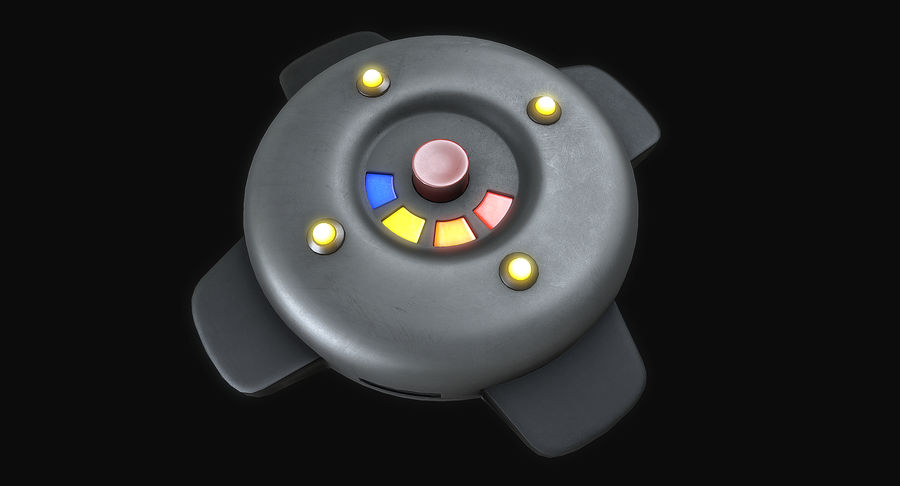 Explosive Mines royalty-free 3d model - Preview no. 6