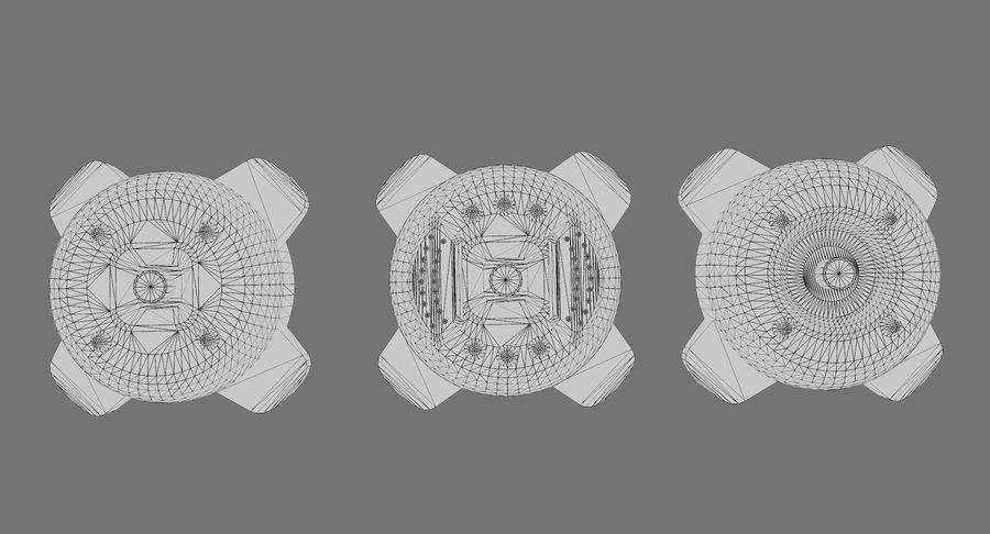 Explosive Mines royalty-free 3d model - Preview no. 8