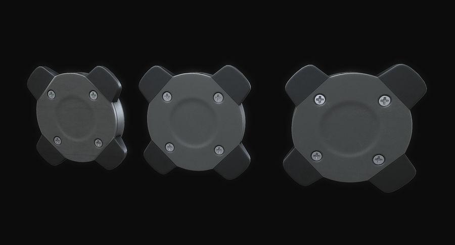 Explosive Mines royalty-free 3d model - Preview no. 4