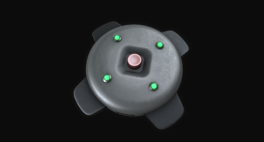Explosive Mines royalty-free 3d model - Preview no. 7