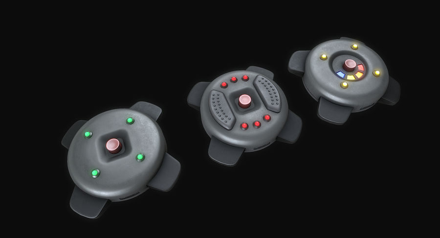 Explosive Mines royalty-free 3d model - Preview no. 3