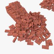 Bricks Pack Low Poly 3d model