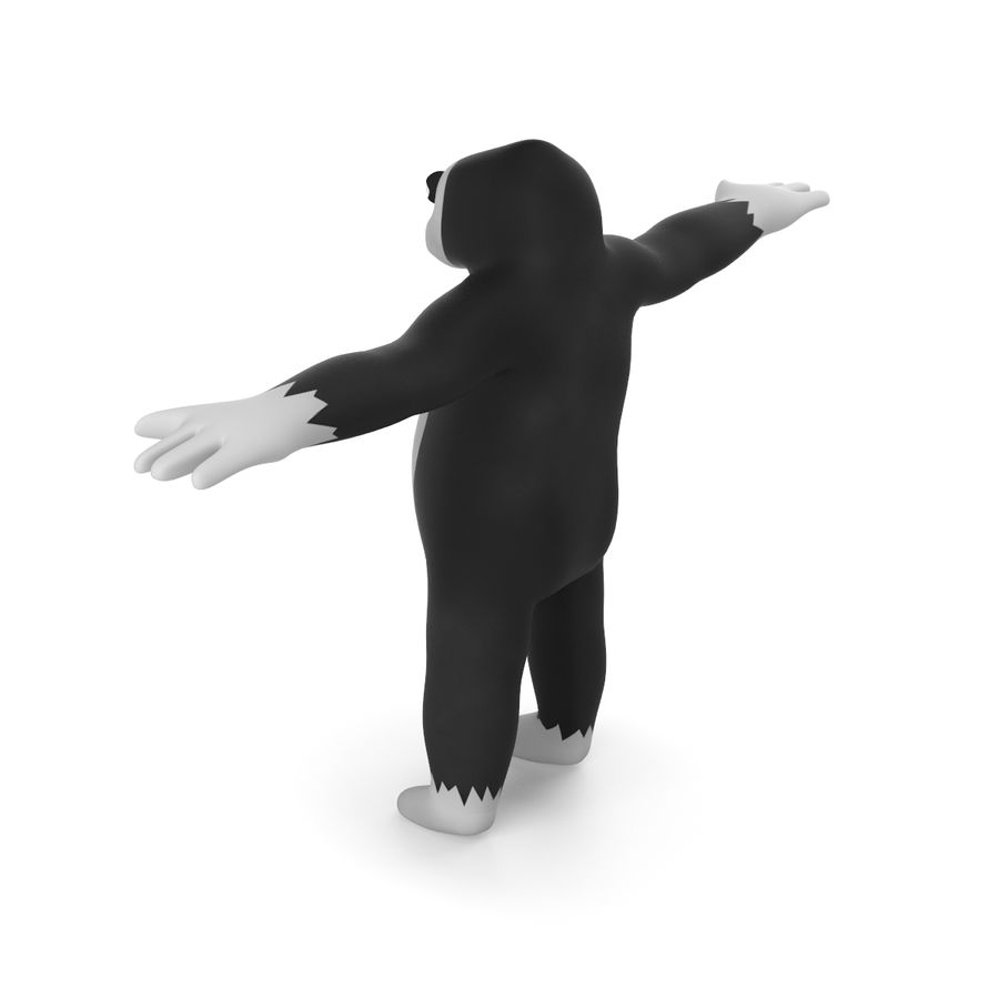 Cartoon Gorilla - RIGGED royalty-free 3d model - Preview no. 7