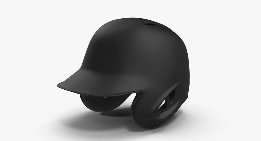 Baseball Helmet Black Matte Two Sided Generic 3d Model 49
