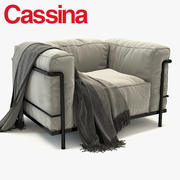 LC3 CASSINA EXTERIOR 3d model
