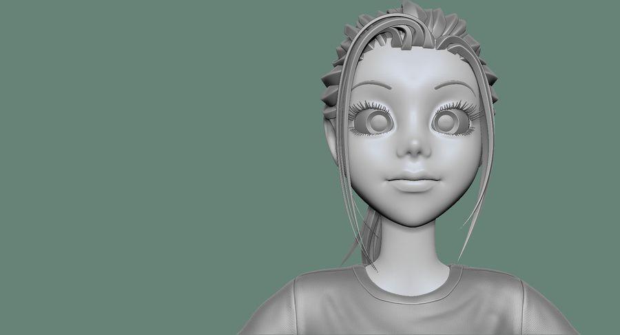 Cartoon Woman Soccer Goal Keeper Sculpt royalty-free 3d model - Preview no. 26